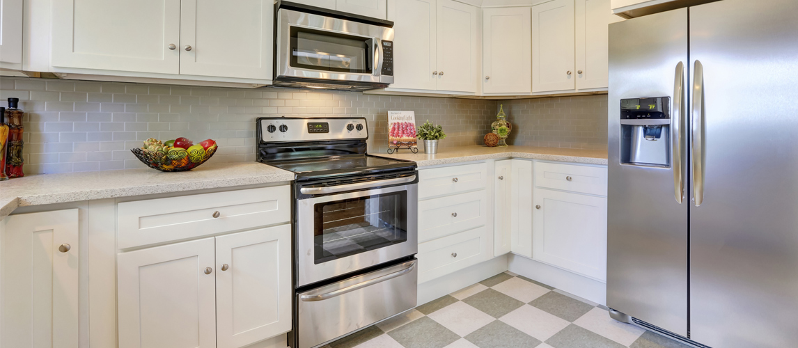 cleaning large kitchen appliances