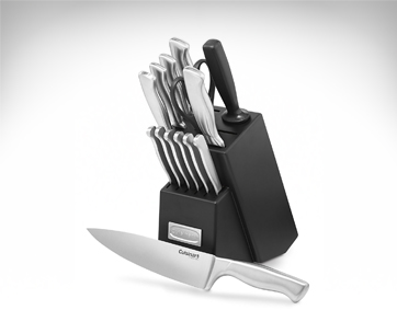 cuisinart stainless steel block set