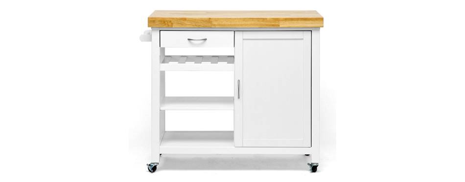 baxton studio modern kitchen cart
