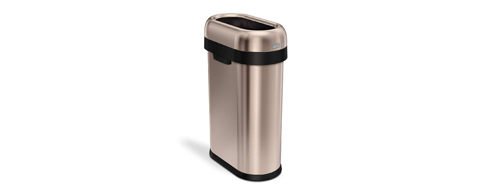 Simplehuman Slim Open Top Trash Can