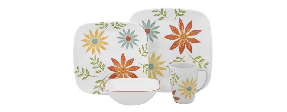 corelle square round 16-piece dinnerware set
