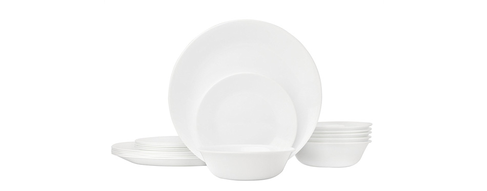 Corelle Winter Frost White Dinnerware Set