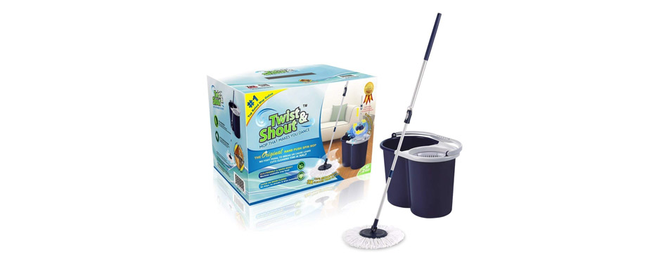 Twist and Shout Hand Push Spin Mop