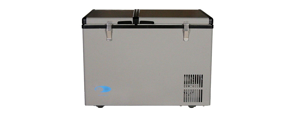 quart dual zone portable freezer