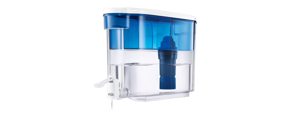 pur 18-cup dispenser with water filter
