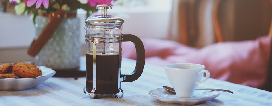 French Press and Cup