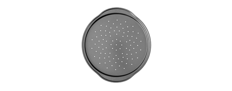 Wilton pizza pan with holes