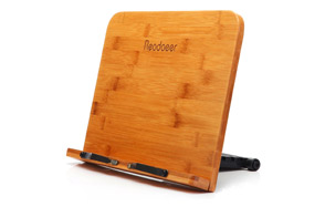 Readaeer Bamboo Reading Cookbook Stand