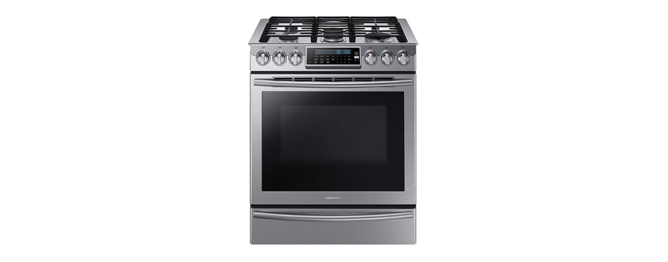 Samsung Slide In Stainless Steel Gas Range