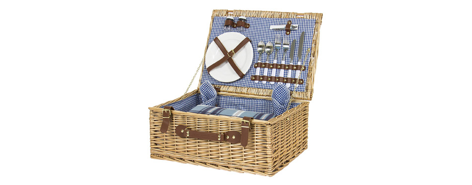 Best Choice Products Wicker Picnic Basket