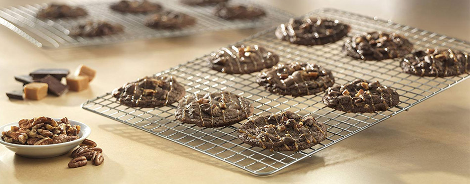 Cookies and Nuts on Cooling Rack