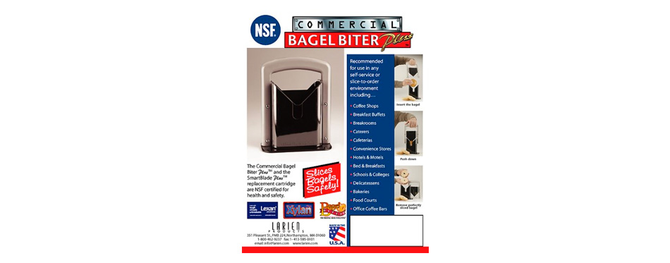 Larien Products Commercial Bagel Slicer