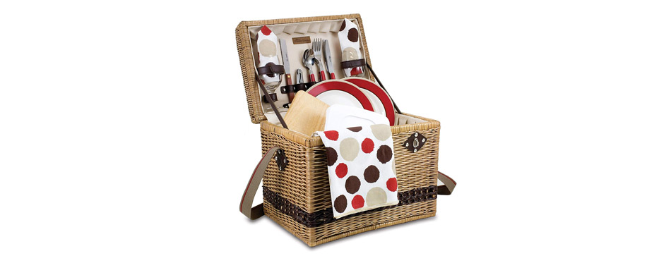 Picnic Time Willow Picnic Basket