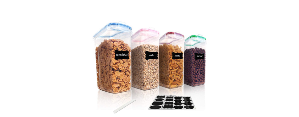 Vtopmart Cereal Storage Container Set