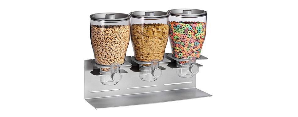 Honey-Can-Do Triple Canister Dry Food Cereal Dispenser