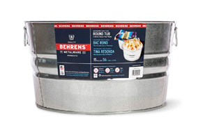 Behrens Round Galvanized Beverage Tub