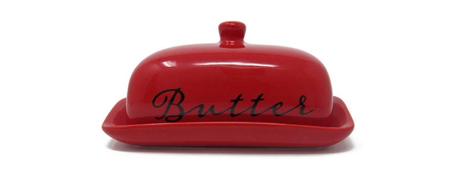 Ashes to Beauty Porcelain Butter Dish With Lid