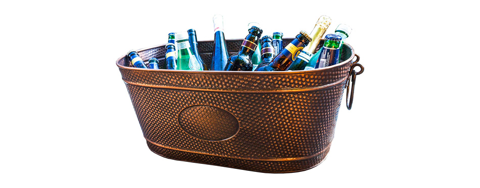 Brekx Copper Finish Beverage Party Tub