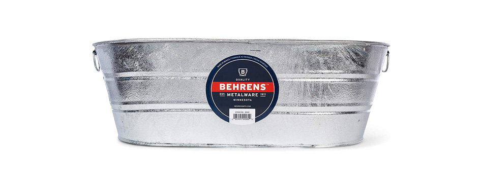 Behrens Oval Steel Beverage Tub