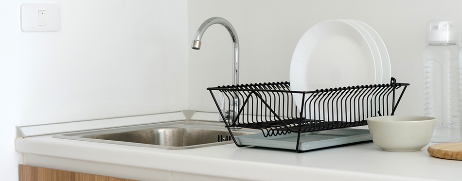Dish Rack on the countertop