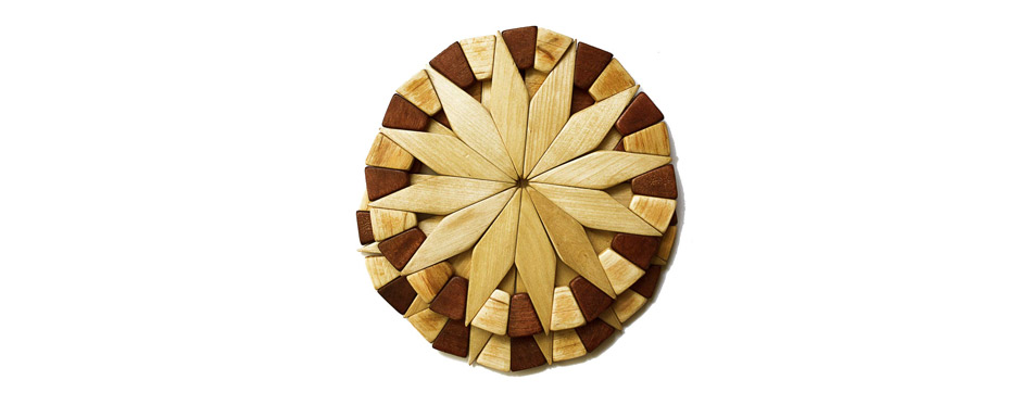 ECOSALL Natural Wood Trivets For Hot Dishes