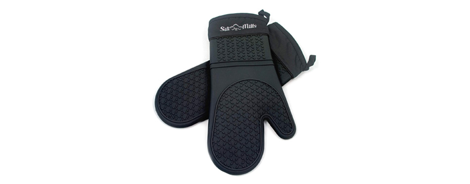 Frux Home and Yard Black Silicone Oven Gloves