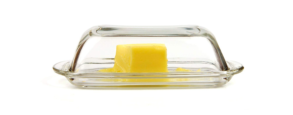 Kangaroo Glass Butter Dish With Cover