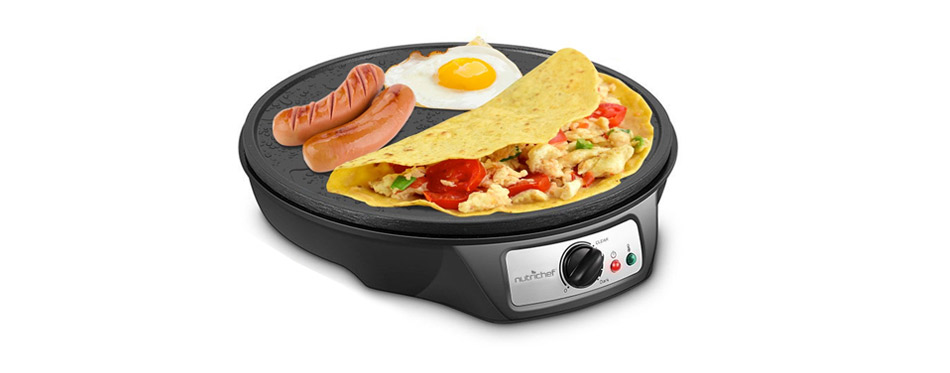 Nutrichef Electric Crepe Maker
