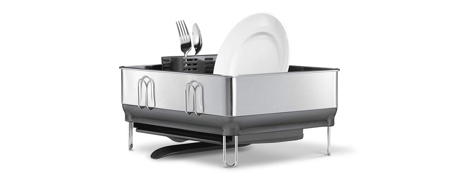 Simplehuman Kitchen Compact Steel Frame Dish Rack