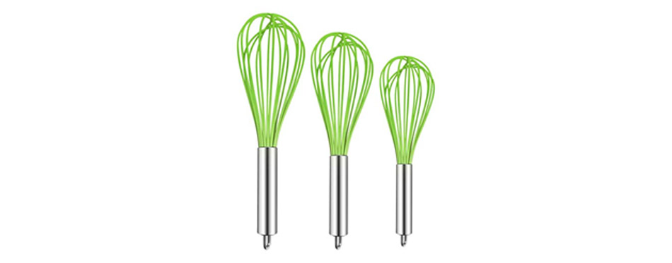 Teevea 3 Pack Sturdy Kitchen Whisks