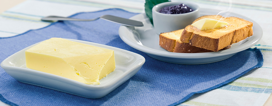 butter dish on the table
