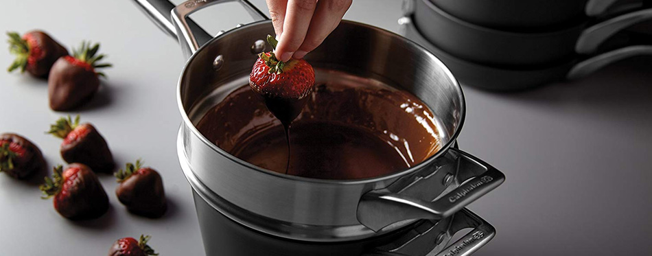 melting chocolate in double boiler