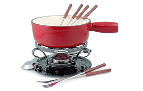 Swissmar Lugano Cast Iron Cheese Fondue Set