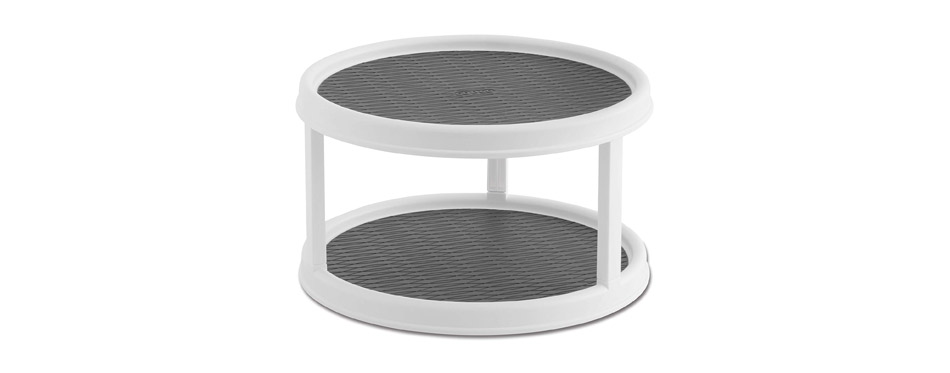 Copco Non-Skid 2-Tier Pantry Cabinet Lazy Susan Turntable