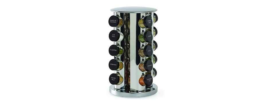 Kamenstein Revolving 20-Jar Countertop Spice Rack Tower
