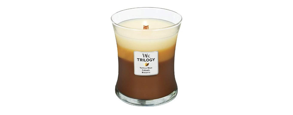 WoodWick Trilogy Cafe Sweets Jar Candle