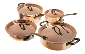 Matfer Bourgeat Copper Cookware Set