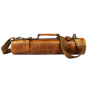 Aaron Leather Goods Knife Roll Storage Bag