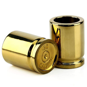 Barbuzzo Shot Glasses Shaped like Bullet Casings