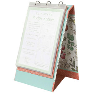 C.R. Gibson Vertical Recipe Keeper Flip Stand