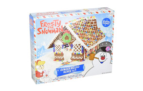 Candy Crate Frosty the Snowman Gingerbread House Kit
