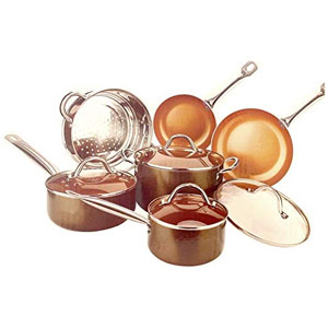 Copper Luxury Induction Cookware Set