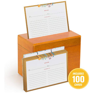 Fresh & Lucky Recipe Box with 100 Recipe Cards