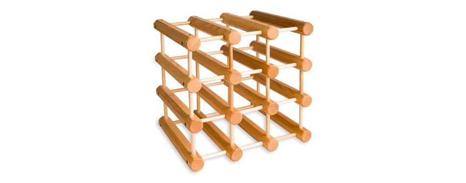 J.K. Adams Ash Wood 12 Bottle Wine Rack
