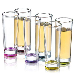JoyJolt Hue Colored Shot Glasses