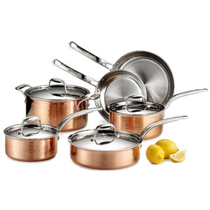 Lagostina Martellata Copper Set