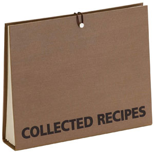 Meadowsweet Kitchens Accordion File Recipe Organizer
