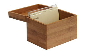 Oceanstar RB1408 Bamboo Recipe Box