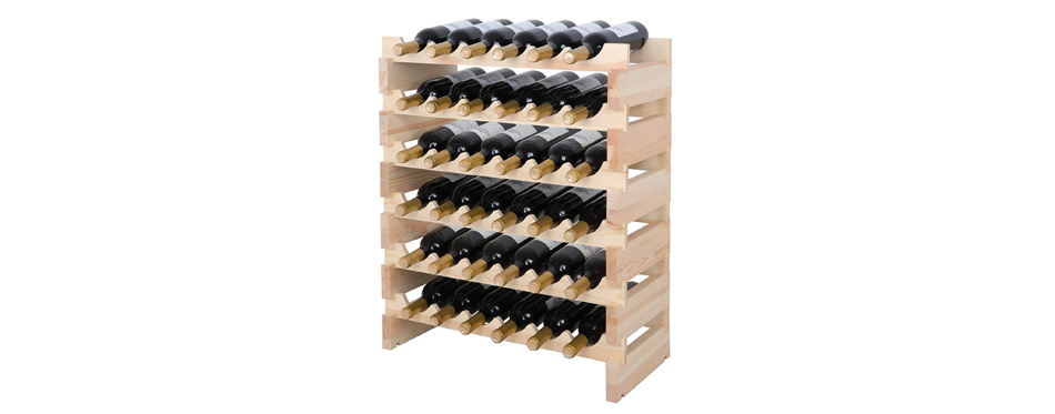 Smartxchoices Natural Wood Wine Holder