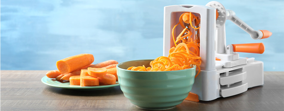 Spiralizer and carrot